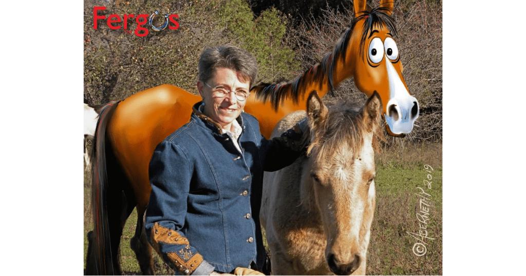 Jean & Fergus the Horse